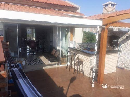 Imagem 1 de 16 de Cobertura Com 2 Dormitórios À Venda, 98 M² Por R$ 460.000,00 - Paraíso - Santo André/sp - Co0063