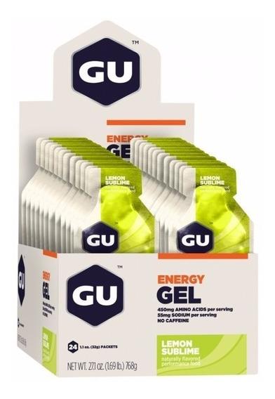 Gu Energy Gel Carboidrato Limonada Cx 24 Sachês