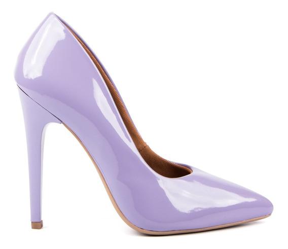 Scarpin Factor Fashion Salto Alto Verniz - Coleção 2020