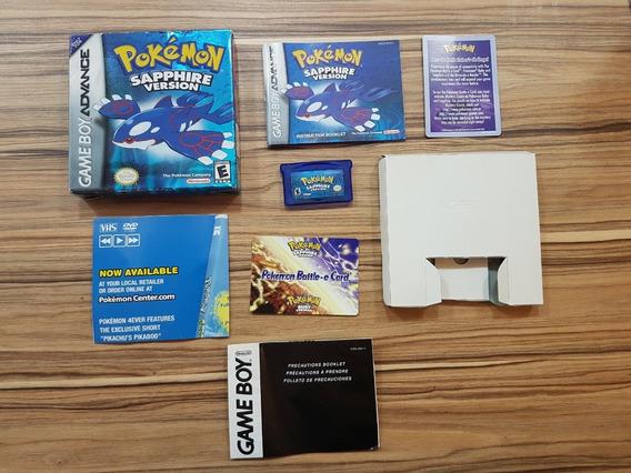 Pokémon Sapphire Versão Eua, Box , Manual E Jogo Original