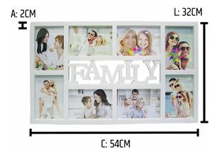 Quadro Painel 8 Fotos 10x15 Porta Retrato Criativo Branco