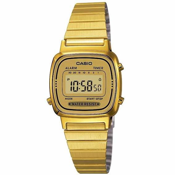 Relógio Casio Feminino La670wga-9df Vintage C/ Garantia E Nf