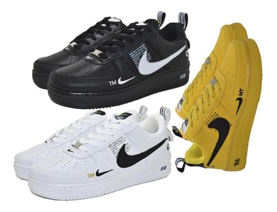 Tenis Para Skate Basquete Air Forxce Promoção Kit 3 Par