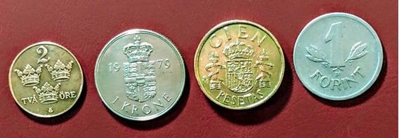 Monedas De Europa 16 Dinamarca Y Otros Países