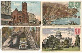 Eua - 1917 - 4 Cartões Postais Cidades California Sacramento