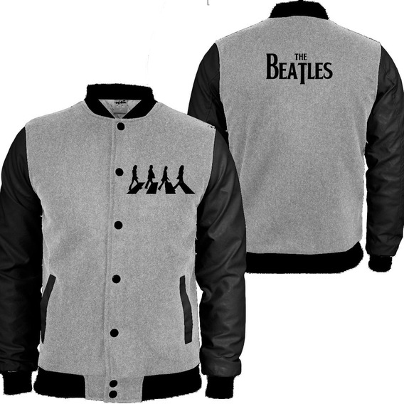 Casaco Moletom The Beatles College Blusa Moleton
