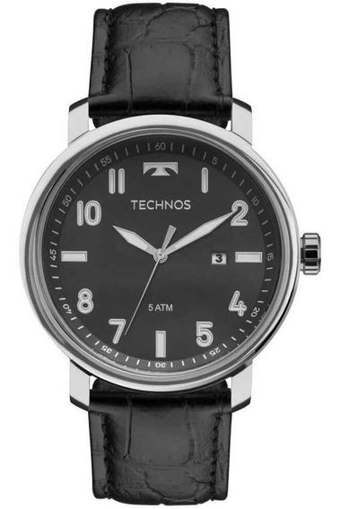 Relógio Technos Masculino Clássico Em Couro 2115mni/0p