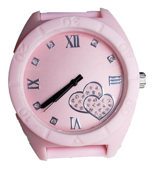 Relógio Feminino Quartz Rosa-claro + Caixa Acrílico