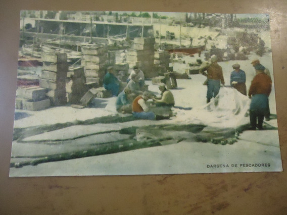 Postal Antigua De Mar Del Plata Darsena De Pescadores (sp)