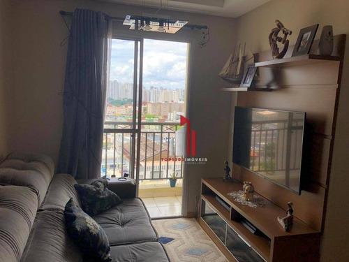 Apartamento Com 2 Dormitórios À Venda, 49 M² Por R$ 355.000,10 - Vila Siqueira (zona Norte) - São Paulo/sp - Ap0307