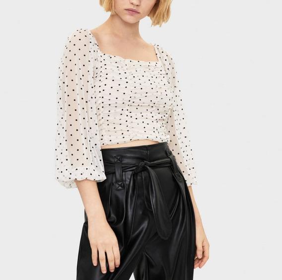 Blusa Lunares Moda Trendy