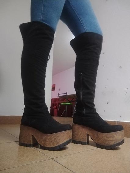 Bucanera Zapato Mujer Negra Exelente Estado Talle 38