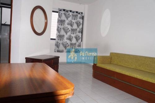 Imagem 1 de 19 de Kitnet Com 1 Dormitório À Venda, 35 M² Por R$ 160.000,00 - Canto Do Forte - Praia Grande/sp - Kn0074