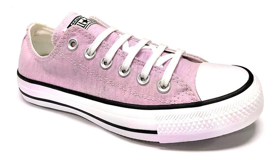 Tênis Converse All Star Ct0485 Moleton Rosa Papaya Baixo