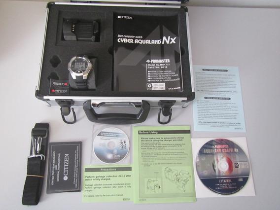 Relógio Citizen Cyber Aqualand Novo C Maleta Mg1010-08e D716