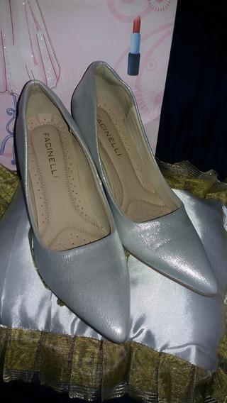 Sapato Salto Alto Princesa + Almofada Debutante Usado 1 Vez
