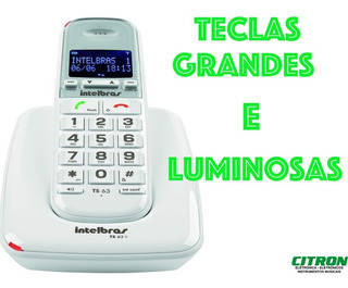 Teléfono Inalámbrico Intelbras, Ideal Gente Mayor