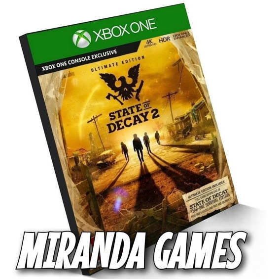 State Of Decay 2 Edição Suprema Xbox One Midia Digital