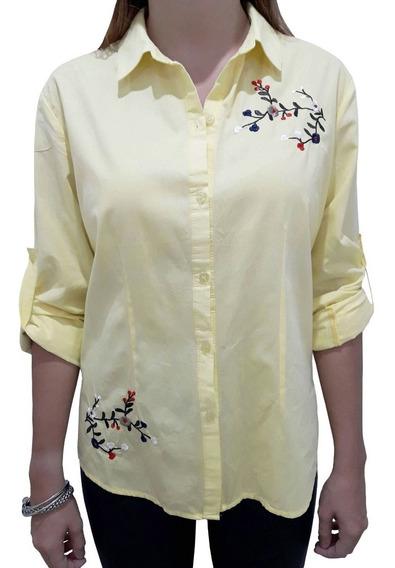 Camisa Bordada De Algodón 3 Talle 6 Colores