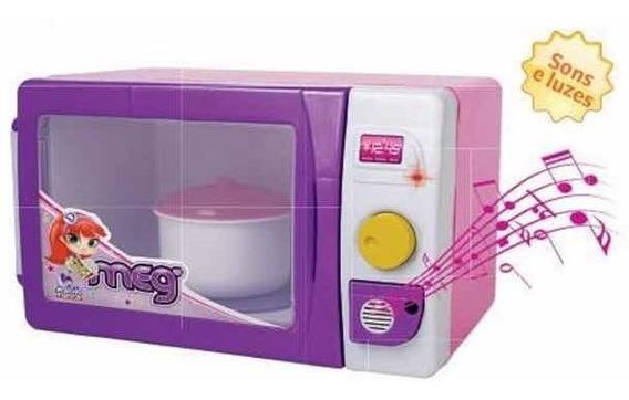 Microondas Brinquedo Infantil Com Som Magic Toys 7010