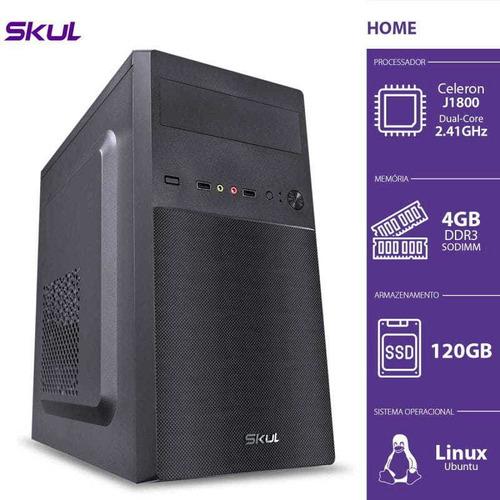 Imagem 1 de 5 de Computador Home H100 Intel Celeron 4gb De Memória 120gb Ssd