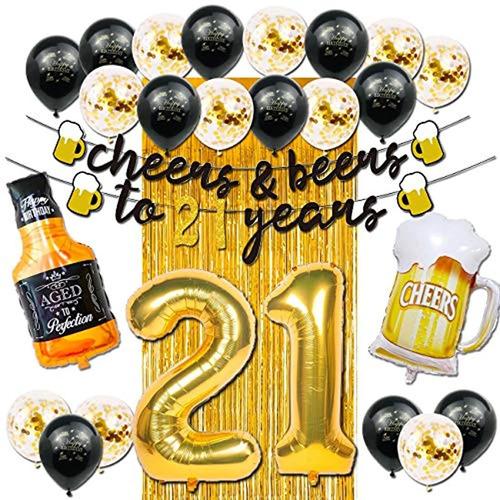 Decoraciones De 21 Cumpleaños Para Fiesta. Marca Pyle