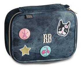 Estojo Material Escolar Jeans Original Rebecca Bonbon Rb9141