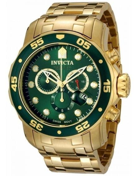 Relógio Invicta Pro Diver Scuba 0075 Linha Dourado Cronos
