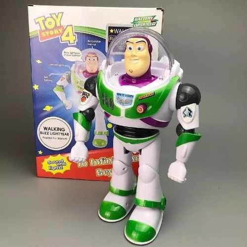 Buzz Lightyear Toy Story 4 Com Luzes Anda- Na Caixa