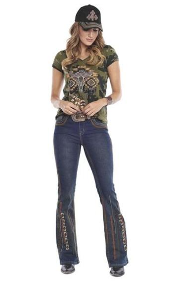 Calça Jeans Tassa Gold Boot Cut Dirty Tamanho 44