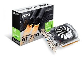 Tarjeta De Vídeo 2gb Gt 730 128 Bits Msi Nvidia Ddr3