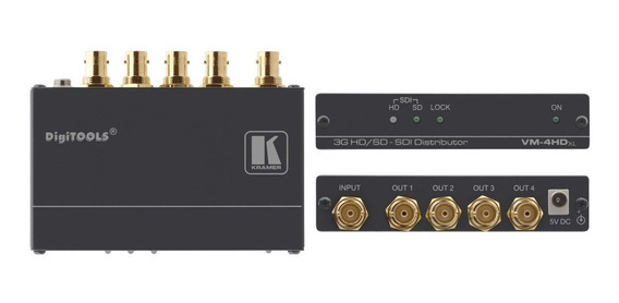 Kramer Amplificador Distribuidor Sinal De Video Vm-4hdxl