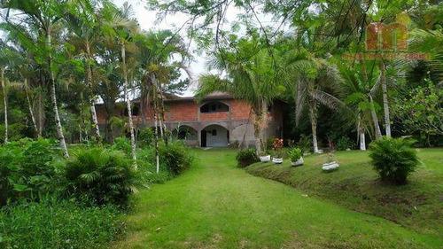 Chácara Com 7 Dormitórios À Venda, 8170 M² Por R$ 480.000,00 - Nova Vatrapua - Peruíbe/sp - Ch0133