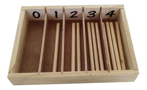 Imagen 1 de 6 de Ingeniacrea: Caja De Husos Montessori Aprender Matemáticas