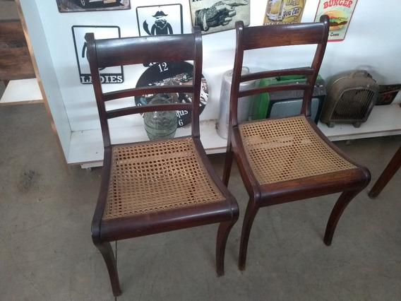 Par De Antiga Cadeira De Jacarandá Colonial