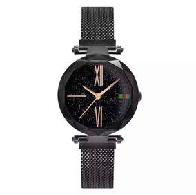 Relógio Feminino Luxo Céu Estrelado Imã (magnético)