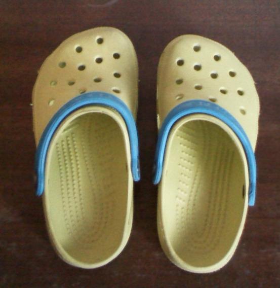 Sandalias Amarillas Crocs Para Niñas