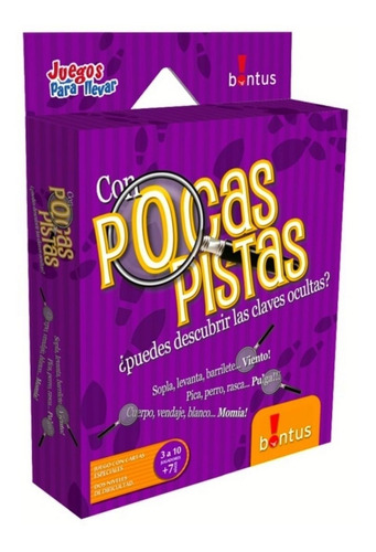 Pocas Pistas Juego De Mesa Cartas Viaje Bontus Original