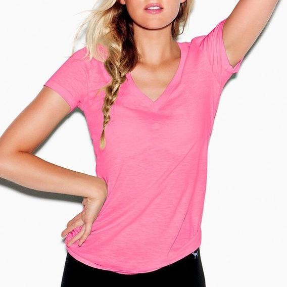 Victorias Secret Pink Remera Basica Original Importada 02