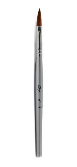 Pincel Para Construccion Unas En Acrilico N8 Thuya