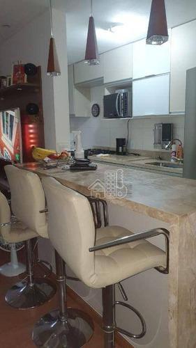 Apartamento Com 3 Dormitórios À Venda, 77 M² Por R$ 340.000,00 - Maria Paula - São Gonçalo/rj - Ap4303