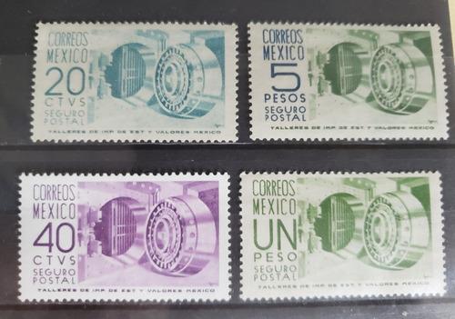 Imagen 1 de 1 de México  1950 - 1975 : Seguros Postales Set 4 , Serie Corta