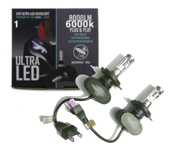 Kit Lampada Led Automotiva Ultra Led 8000lm 6000k H4
