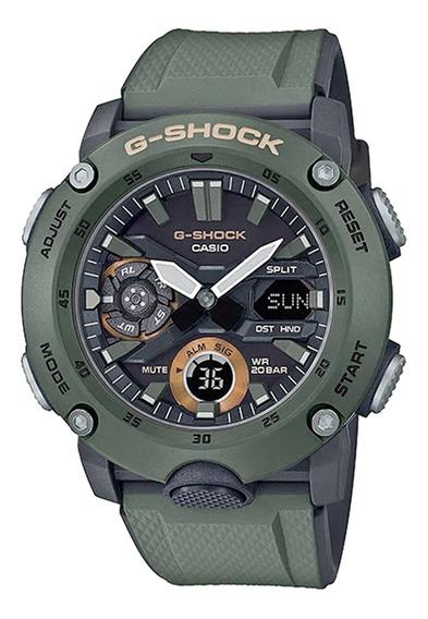 Relógio Casio Masculino Ga-2000-3adr Verde - Refinado