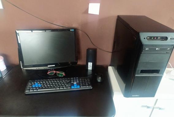 Computador Completo Barato 4gb Hd 1tb Win10 Com Monitor