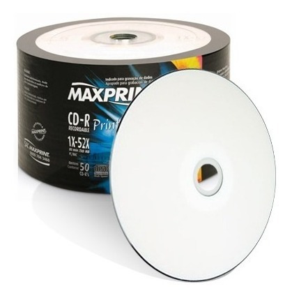 50 Midia Virgem Cdr Maxprint 52x 700mb Printable (shrink)