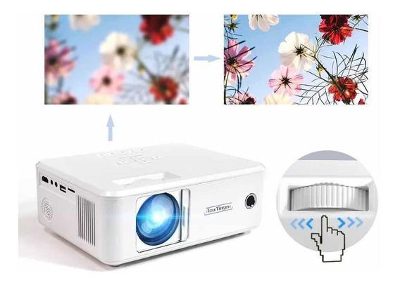 Projetor 1080p Led Com Entrada Hdmi E Alto Falante 2200lumen