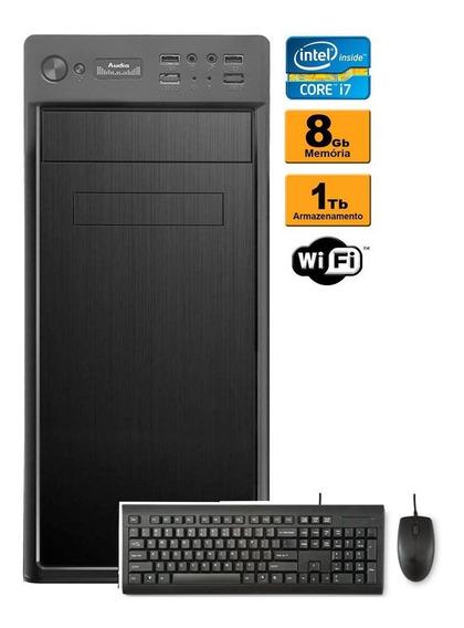 Computador Cpu Intel Core I7 8gb Hd 1tb Wifi Hdmi
