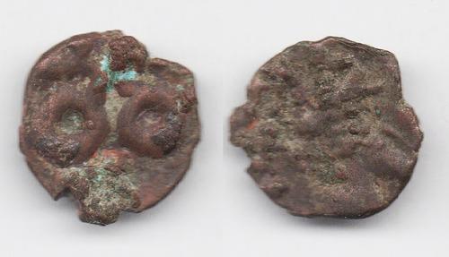 Imagen 1 de 2 de Moneda India Imperio Satavahana (177 A C. - 300 D C.) L155