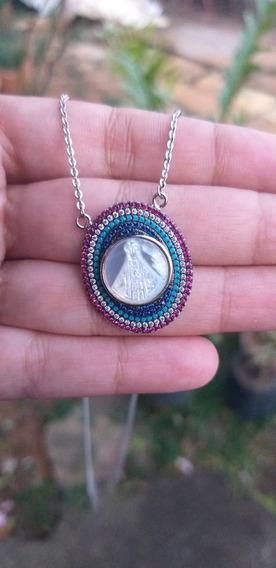 Colar Nossa Senhora Em Madre Pérola Prata 925